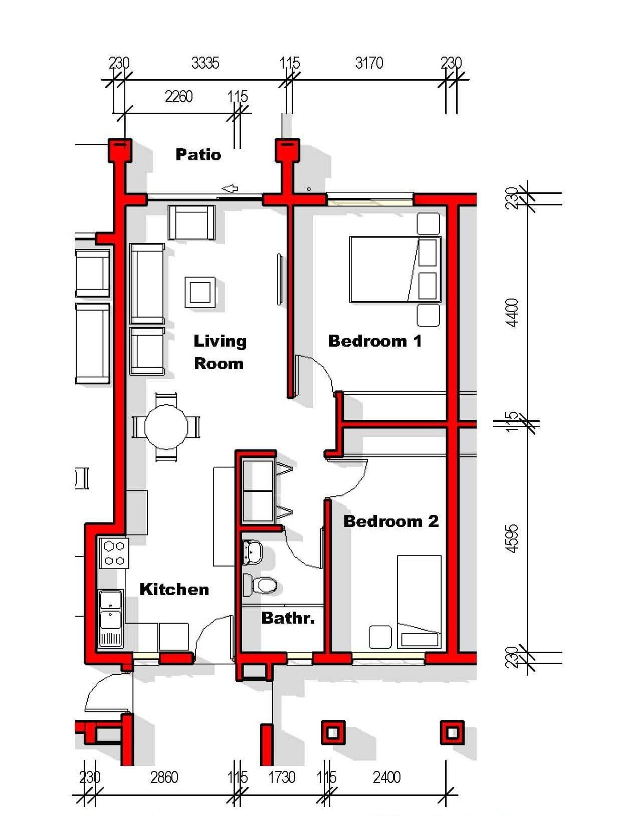 IQ Arabella Unit Plan 3 bedroom 2 bathroom North