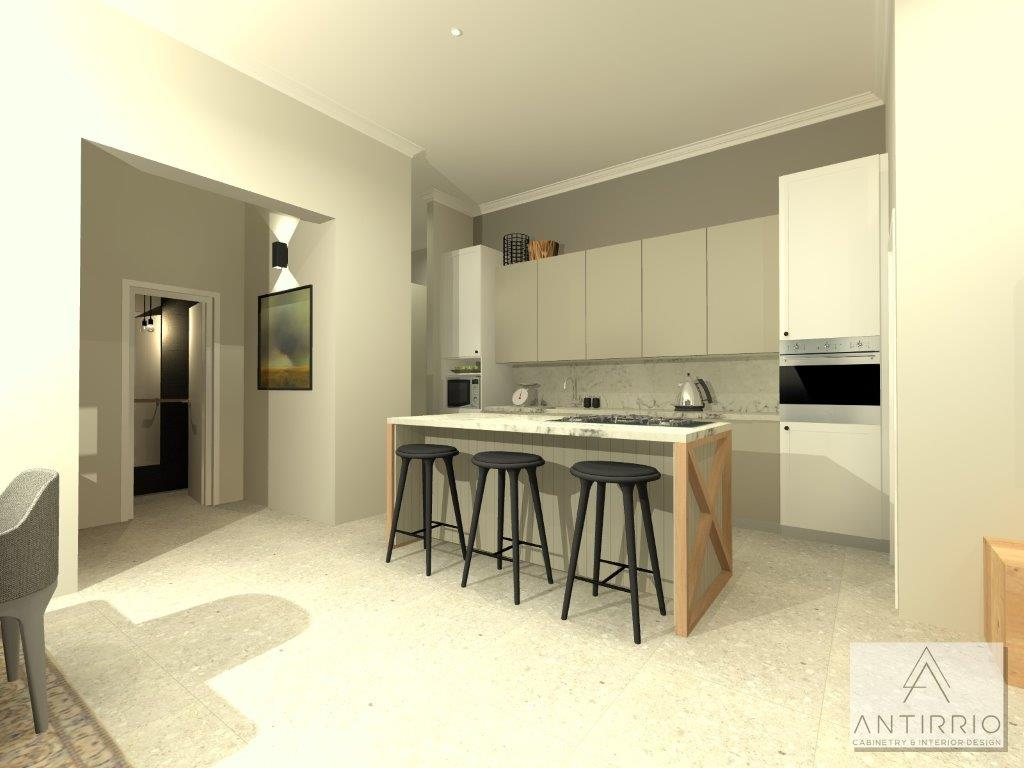 House A Kitchen Island_Alt 2_Island Option 2_Rendered