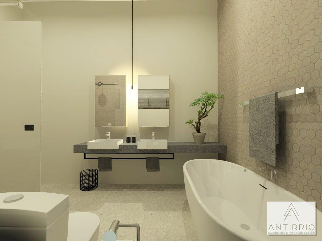 House A_Main Bath_Alt 1_Perspective 1_Rendered