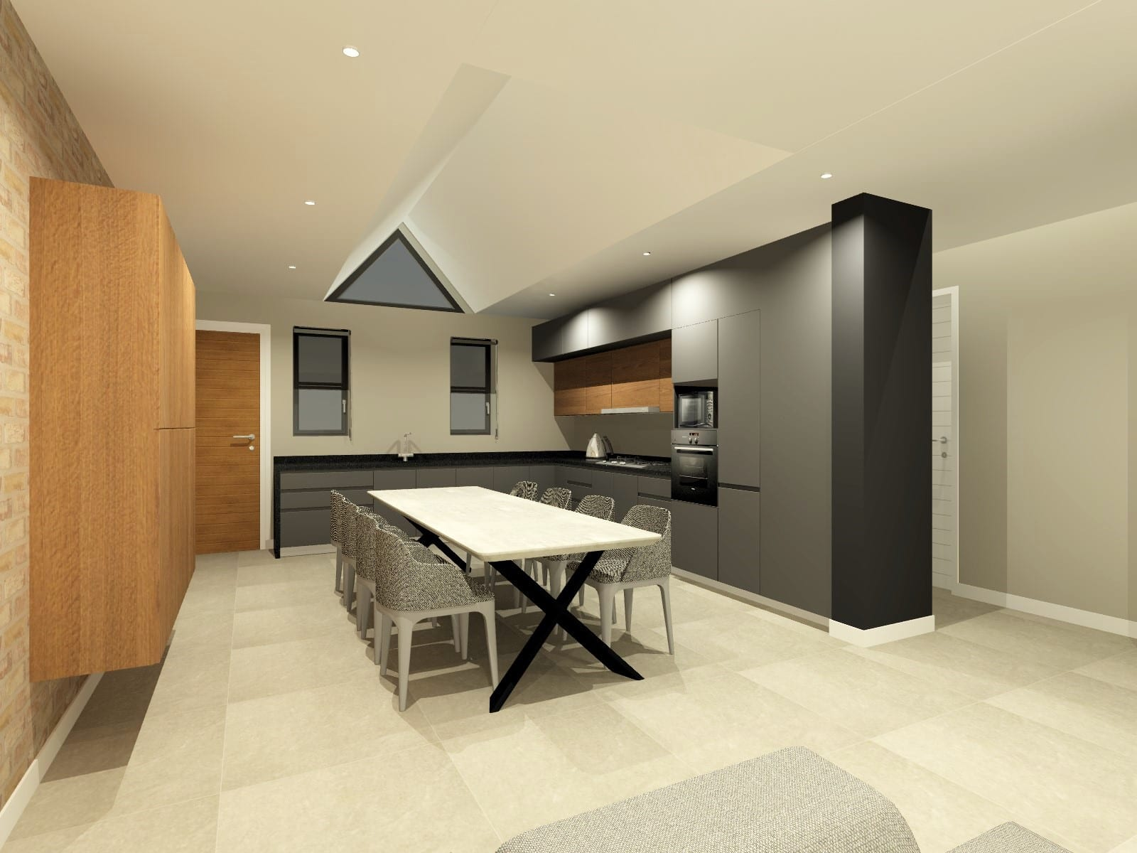Simplex Kitchen Scullery_Perspective 4_Rendered