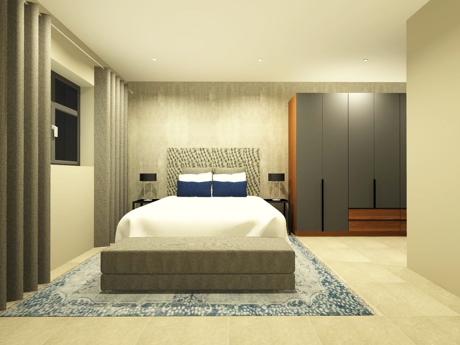 Simplex Main Bed & Bath_Perspective 1_Rendered